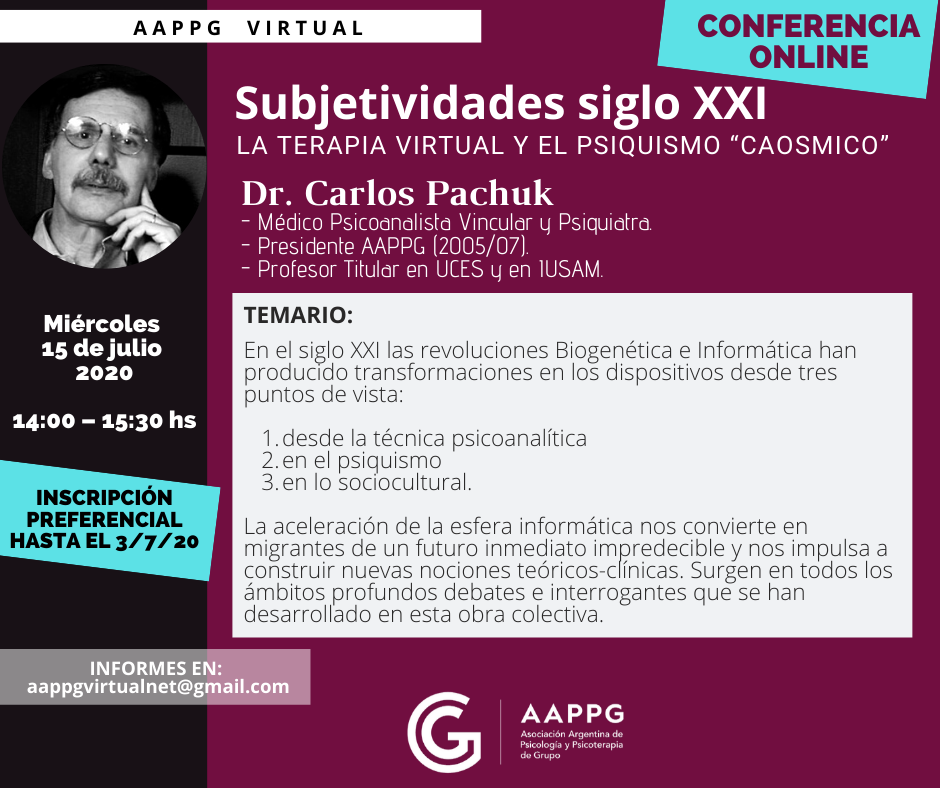 1- Flyer AAPPG Virtual - Conf. Carlos Pachuk