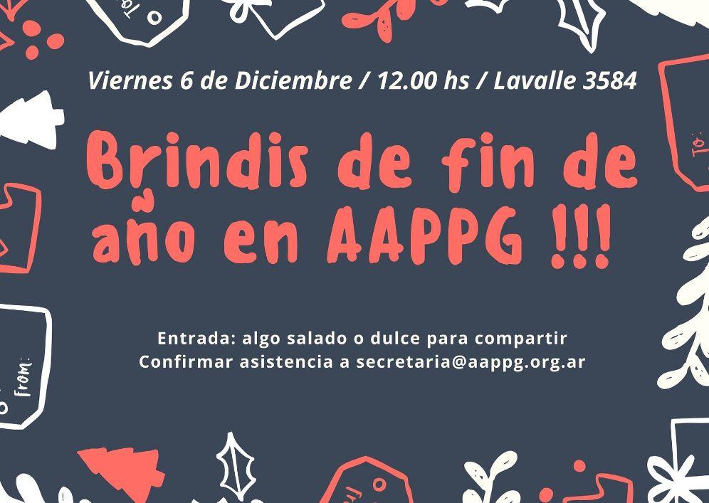 Brindis de fin de años en AAPPG !!!
