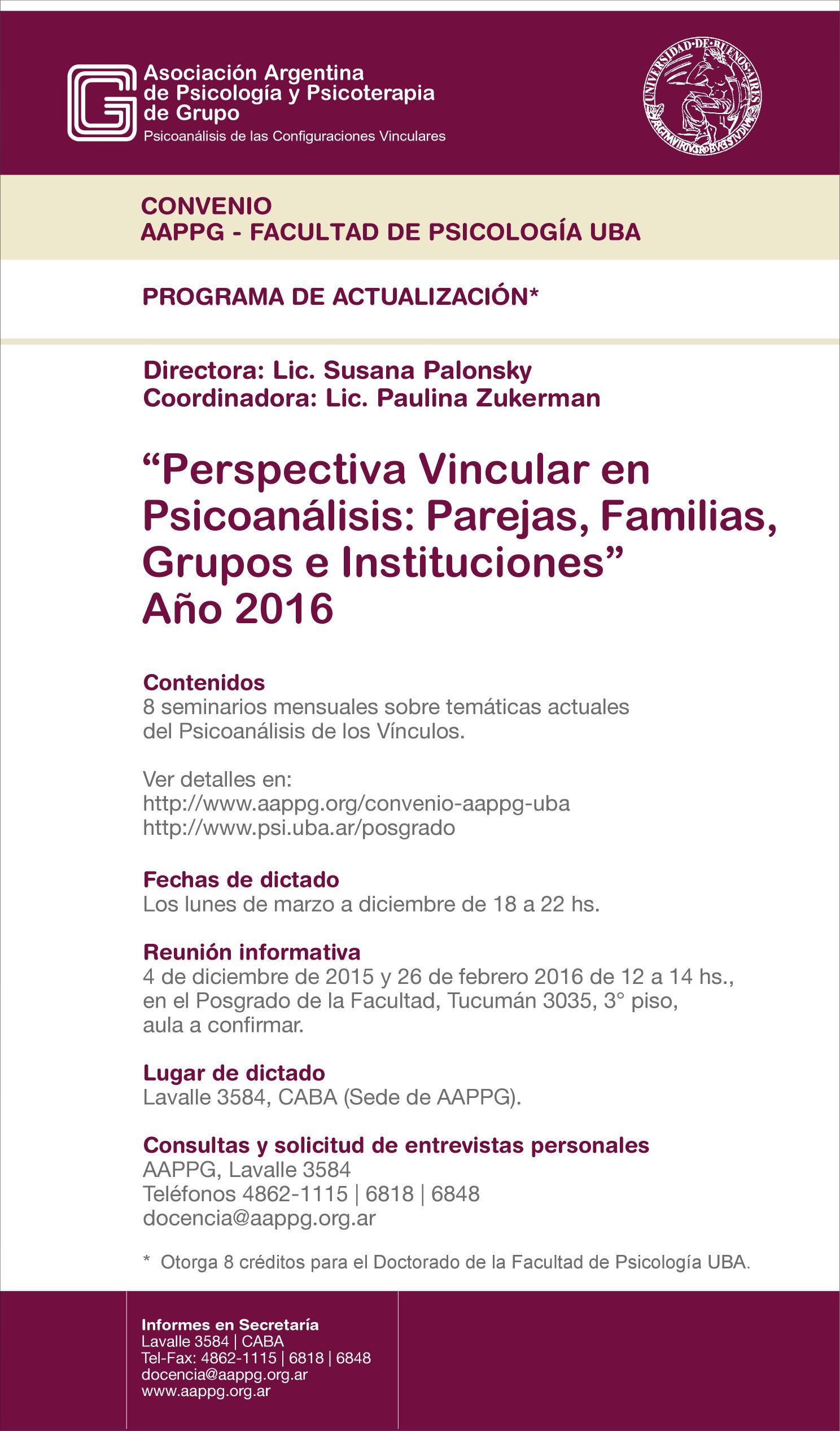 Aappg asociaci n argentina de psicolog a y psicoterapia de grupo psicoan lisis de las - Ejemplo certificado energetico piso ...