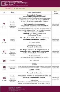 agenda AGOSTO 2017