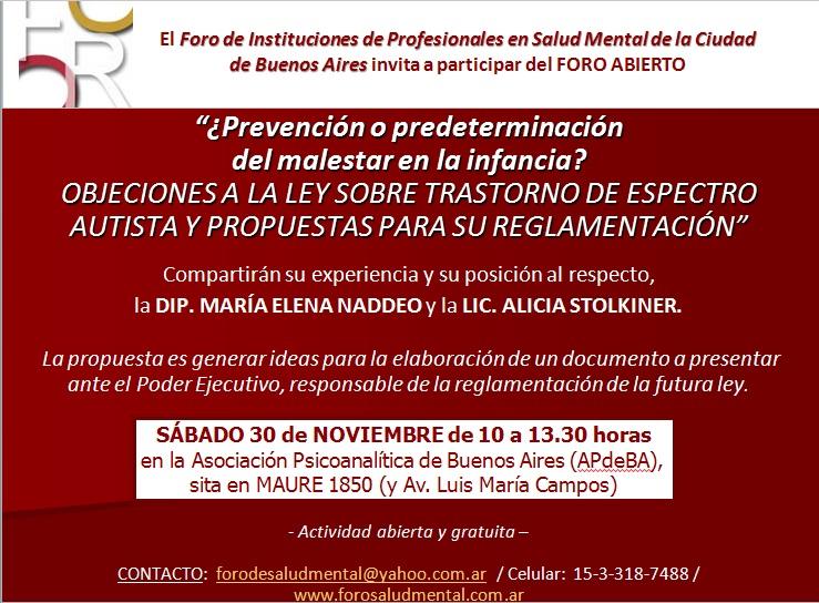 foro abierto tea 30-11-13