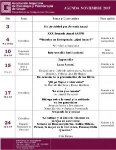 noviembre agenda